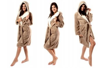 Махровые синтетические халаты