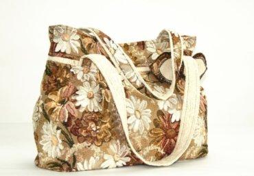 сумка из ткани гобелен