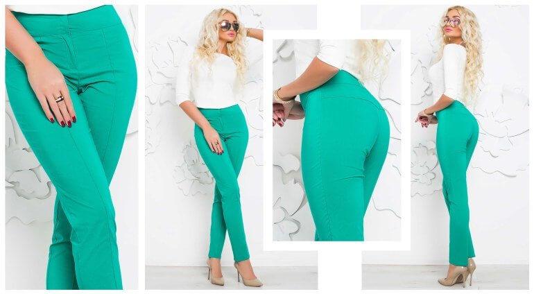 Благодаря эластичности ткани из нее получаются красивые облегающие брюки, не сковывающие движений
