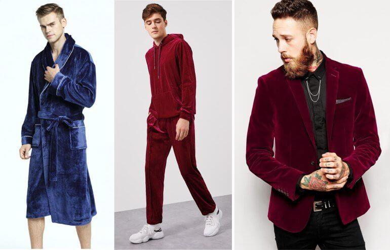 мужская одежда из бархата