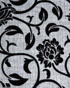 черно-белый цветочки