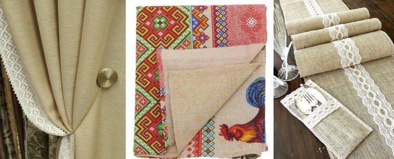 текстиль из рогожки